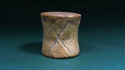 ANCIENT CLAY GAMING PIECE , ONE OF THE EARLIEST , 2nd-1st MILLENNIUM BC