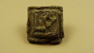 Ancient Lead Weight With Inscription , Byzantine 400-700 Ad