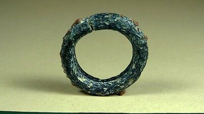 Ancient Glass Ring Multi-Colored Egyptian Late Period 716-30 Bc