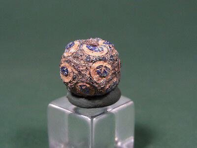 Ancient Mosaic Eye Bead Egyptian Late Period 716-30 Bc
