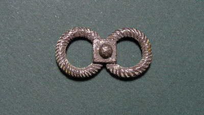 ANCIENT SILVER DOUBLE HAIR RING 1st MILLENNIUM BC