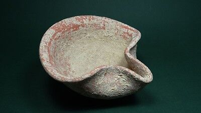 Ancient Terracotta Oil Lamp Iron Age 800-586 Bc