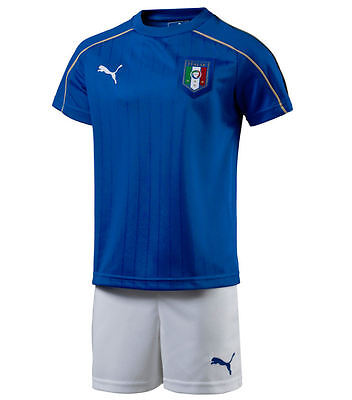 Puma Italy boys football kit 5-6 years New shirt+shorts 2015-2016