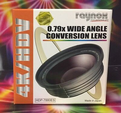Raynox HDP-7880ES 0.79X High Definition Wide-angle Conversio LENS 55mm 58mm 62mm