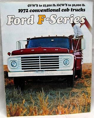 Ford F Series Trucks Advertising Sales Brochure Guide 1972 Models Vintage