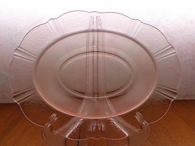 "MacBETH EVANS AMERICAN SWEETHEART PINK 11"" OVAL VEGETABLE SERVING BOWL Excellent"