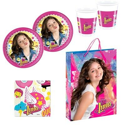 Soy Luna Party Pack for 8 Plates Cups Napkins / Pack Fiesta Vasos Platos Servill