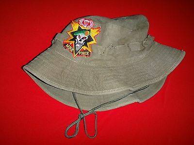 Vietnam War US 5th SFGrp MIKE FORCE Green OD Tropical Hat With Chinstrap