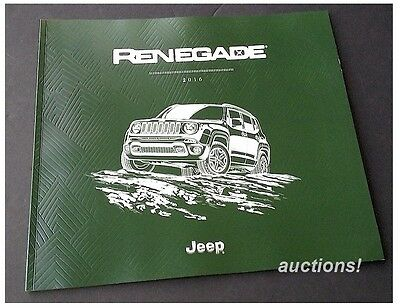 2016 16' Jeep Renegade Prestige Sales Brochure Catalog 52-pages FREE SHIPPING