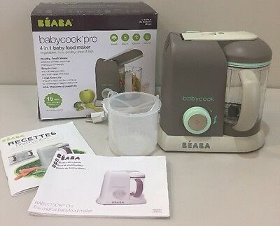 EUC BEABA BABYCOOK PRO 4 in 1 Baby Food Maker Processer Blender