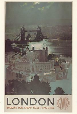 Tower Of London ( Gwr ) Postcard