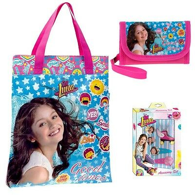 Soy Luna Disney Shopping Bag Wallet and Accesories Set Bolso Billetera