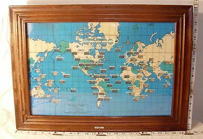 HOWARD MILLER WORLD TIME ELECTRIC WALL CLOCK WORKS 1960s