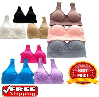 Seamless Bra Women Ladies  Padded Bra & Padless Bra Top Vest Comfort Sports Bra