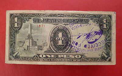 WWII Japan War banknote ''One Peso'' from the Japanese Government