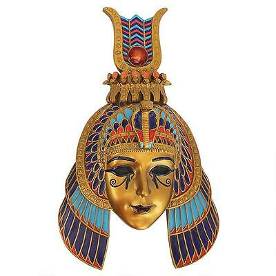 Ancient Egyptian Dynasty Queen Mask Wall Sculpture
