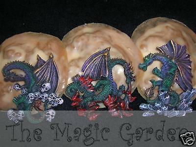 3 dragon plaster cement resin craft latex molds moulds