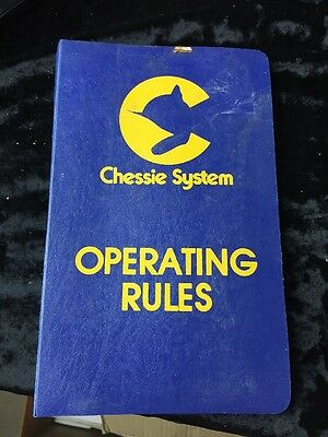 1980 Chessie System Operating Rules  C&O B&O Western Maryland Staten Island RR