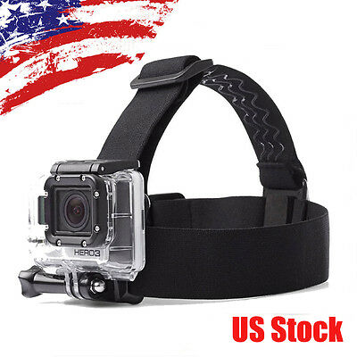 Elastic Headband Helmet Adjustable Head Strap Harness for GoPro Hero 6 5 4 SJCAM