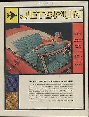 Jetspun Seat Covers most luxurious in the world ad 1955 Lincoln Convertible