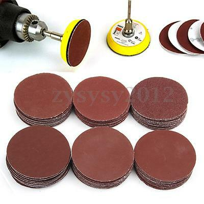 60pc 50mm Loop Polishing Grit Discs Sanding Pad Polishing Sandpaper Shank Set