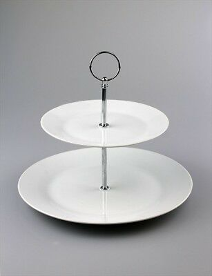 Cake Stand 2 Tier Porcelain Afternoon Tea Wedding Plate Party Tableware