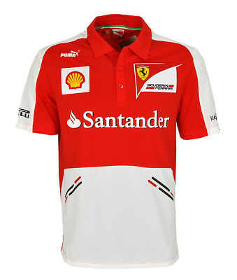 Puma SF Scuderia Ferrari Shirt rot Team Polo Gr S F1 Herren Motorsport Racing