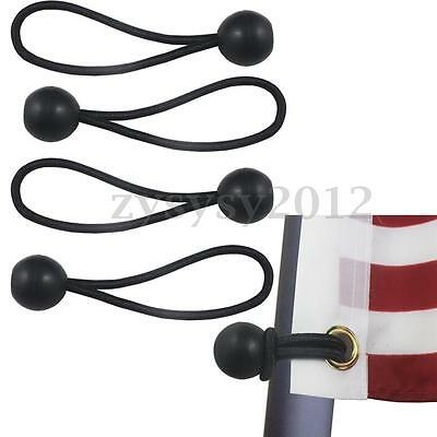 New 4 Flag Pole Clip Ball Flag Bungee Ties to attach Flags & Windsocks to Poles