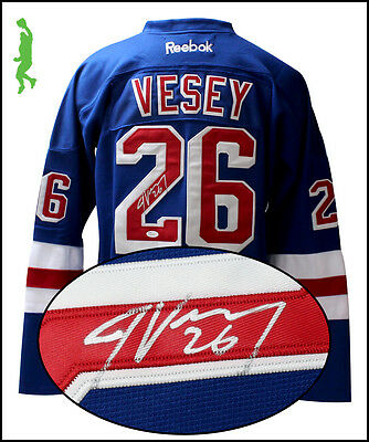 Jimmy Vesey Autographed Signed New York Rangers Hockey Jersey Nhl Jsa Coa