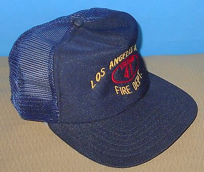 + Authentic California Los Angeles Station 41 Fire Department Hat Cap Navy