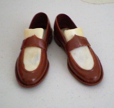 Vintage Pair Of Men's Plastic Dress Shoes Salesman Sample