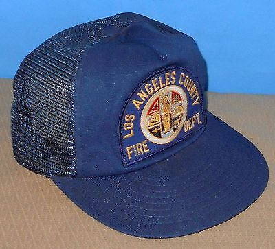 + Authentic California Los Angeles County Fire Department Hat Cap Navy