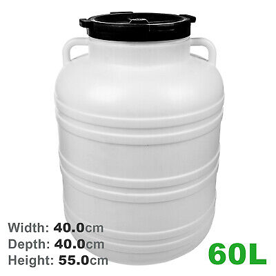 Plastic barrel with screw cap ideal for Fermentation or food storage 5L to 65L