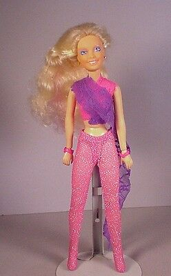 1980's  original Hasbro Jem Fashion Doll with earrings Holograms rock band