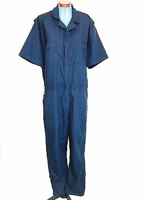 Red Kap Work Coveralls Jumpsuit Mechanic Short Sleeve XL Blue