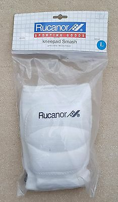RUCANOR Protection Volleyball Knee Pads Adults White Size Large