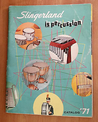 1971 Slingerland Percussion Catalog vintage drums musical instruments Buddy Rich