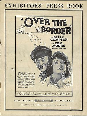 *OVER THE BORDER (1922) Paramount Silent Pressbook Betty Compson & Tom Moore
