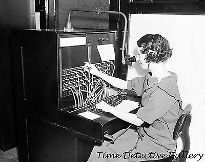 Switchboard Operator, Western Electric Telephone Co. -1935- Historic Photo Print