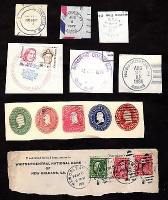 Stamps ~ USA AMERICA POSTMARKS Cut-Outs Pre-Paid ~ Collecting & Scrapbooking