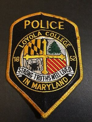 Loyola College Maryland  Police  Shoulder  Patch   Used