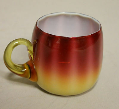 Antique New England Glass Company Plated Amberina Punch Cup (rare piece)