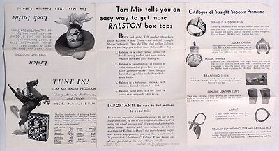 P635. TOM MIX PREMIUM CATALOG Order Blank from Ralston Wheat Cereal (1935)`