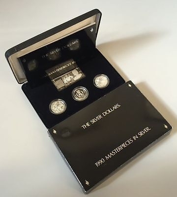 Australia 1990 Royal Australian Mint Masterpieces in Silver Proof 3 coin set