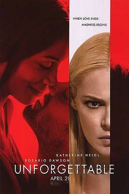 Unforgettable - original DS movie poster - 27x40 D/S 2017 Advance
