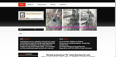 Website Business - www.gold-detectors.com.au - Metal detector / Minelab