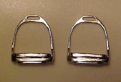 RDLC English Stirrups with INSERTED Treads in Traditional 1:9 Model Scale SILVER