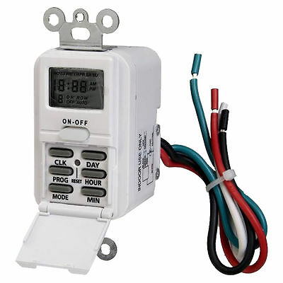 Westek TMDW10 Programmable Weekly Switch Timer, 125 V, 15 A, 7 On-Off Cycles per