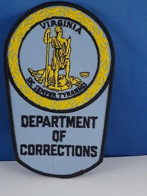 Virginia Department Of Corrections Patch Large Cloth Collector Badge