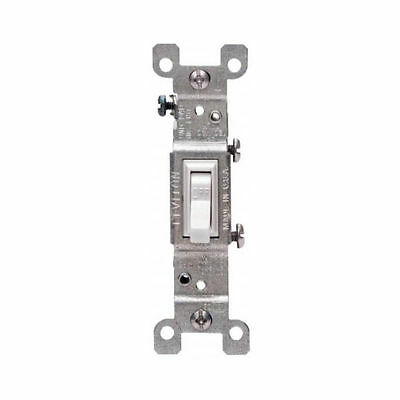 Leviton S02-01451-2WS Framed Grounded Toggle Switch, 120 V, 15 A, 1 P, White